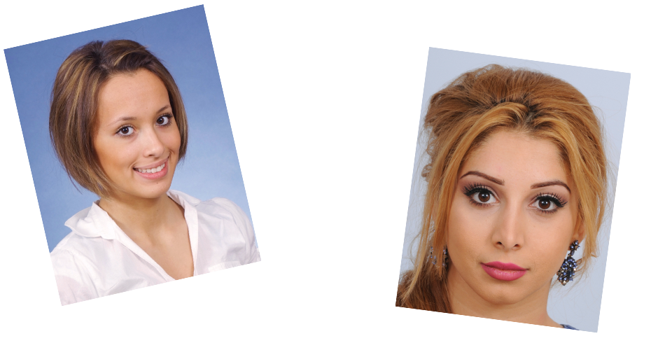 Vergleich zwischen normalem und biometrischem Passbild