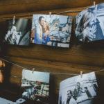 Bilder an Wäscheleine